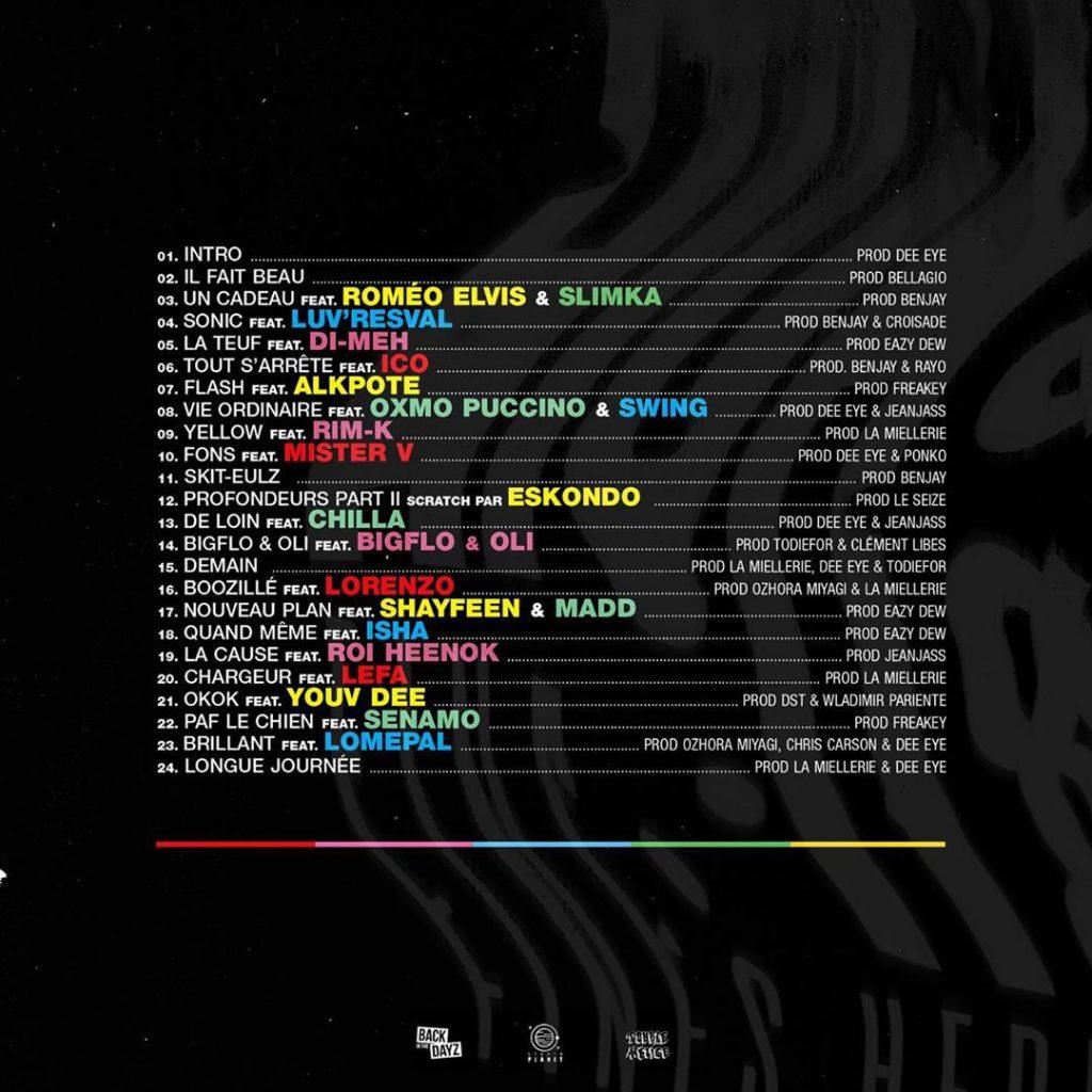 La tracklist de High & Fines Herbes, avec Shayfeen et Madd.