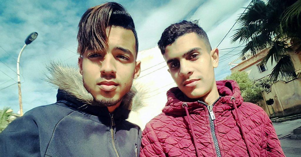 Les deux membres de Lexus Films, Islam (à gauche) et Bilal (à droite), en 2018.